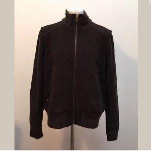 Talbots Coat  Wool Blend Zip Up Front Pockets